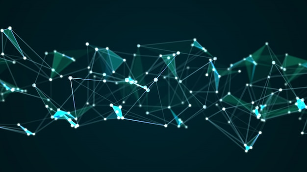 Gráfico de tecnologia digital abstrata futurista molécula estrutura internet Foto Premium