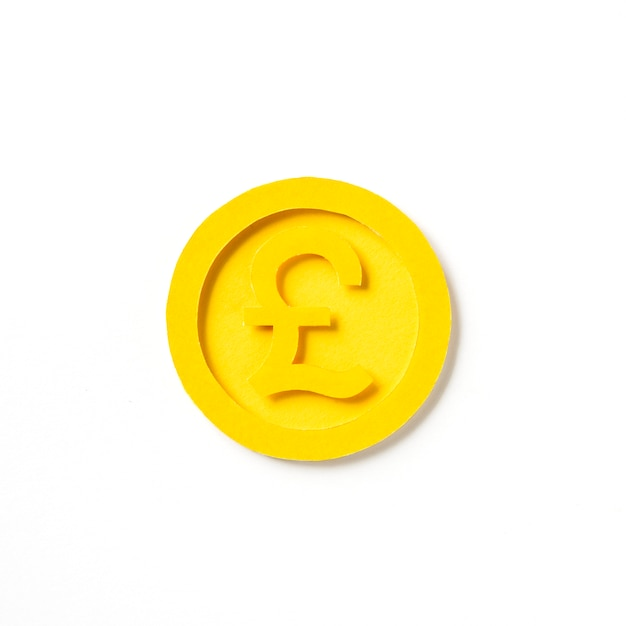 Gráfico dourado da moeda de libra britânica Foto gratuita
