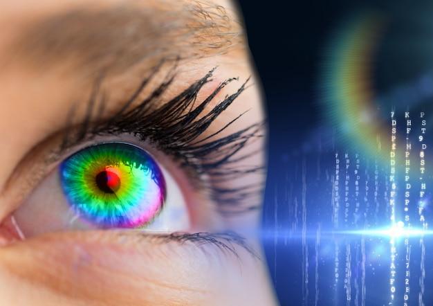 Gráfico mulher estresse computador colorido único objeto Foto gratuita