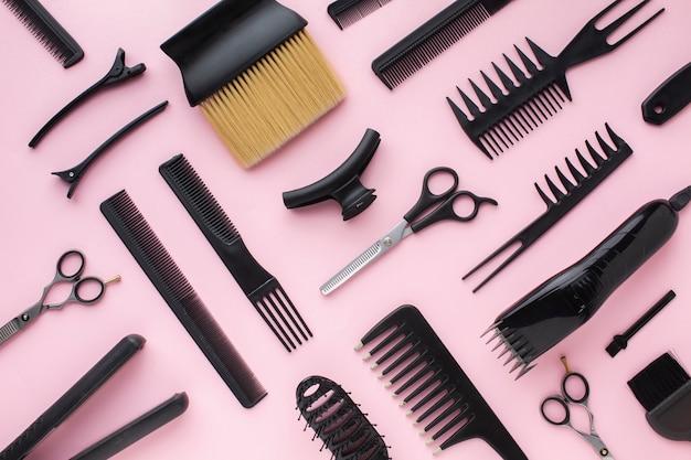 Grampos e pentes para cabelo Foto Premium