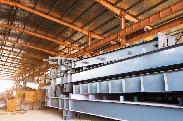 Grande fábrica de processamento de aço Foto Premium