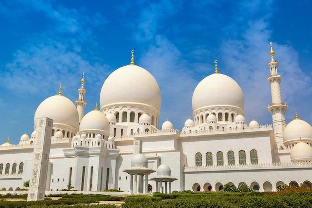 Grande mesquita sheik zayed em abu dhabi Foto Premium