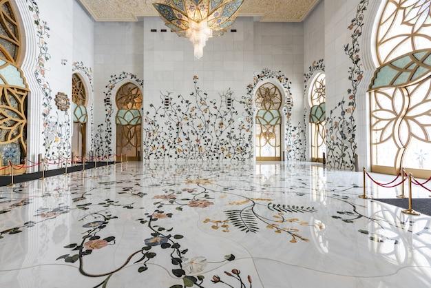 Grande mesquita sheikh zayed de abu dhabi Foto Premium