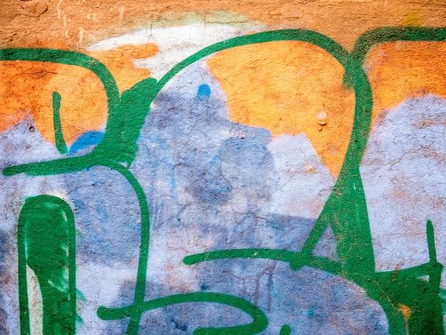 Grandes detalhes de graffitti para composições criativas Foto Premium