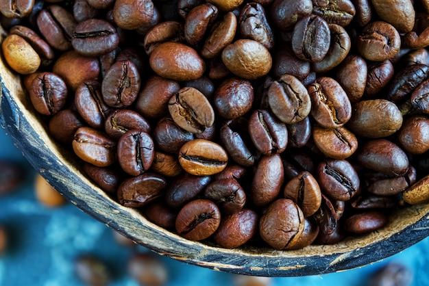 Grãos de café. fechar-se Foto Premium