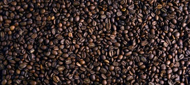Grãos de café torrados, pode ser usado como pano de fundo Foto Premium