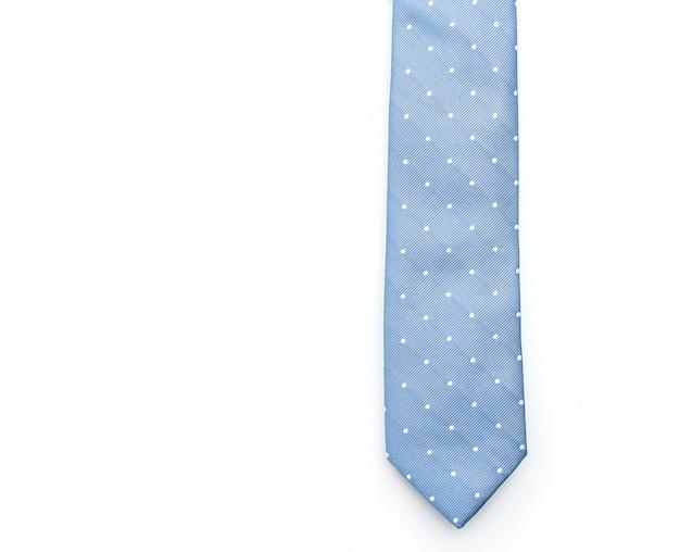 Gravata azul bonita em branco Foto Premium