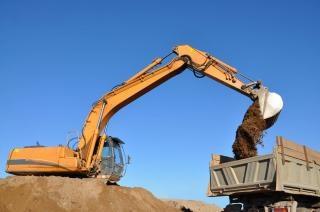Grit escavadeira Foto gratuita