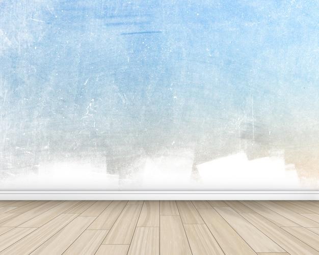 Grunge interior sala de estilo com paredes pintadas e piso de madeira Foto gratuita