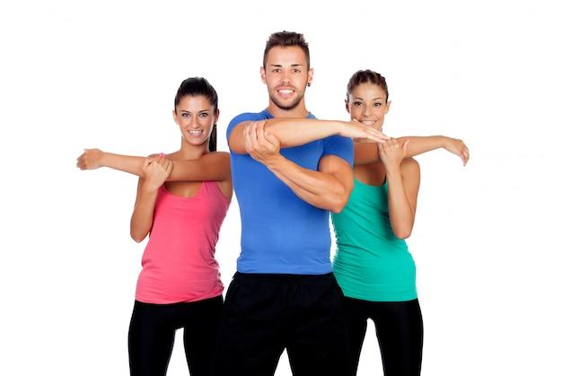 Grupo de jovens com roupas esportivas Foto Premium