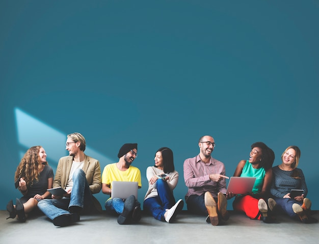 Grupo de pessoas de negócios Foto Premium