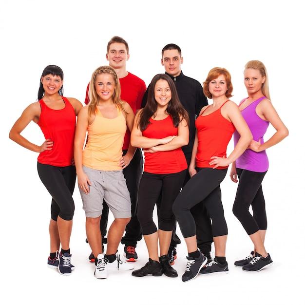 Grupo de pessoas em roupas fitness Foto gratuita