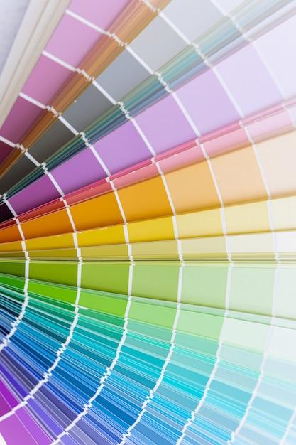 Guia da roda da carta de cor Foto Premium