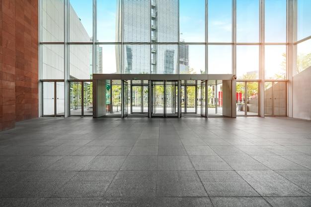 Hall de entrada e piso vazio, espaço interior Foto Premium