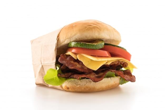 Hambúrguer de bacon Foto gratuita