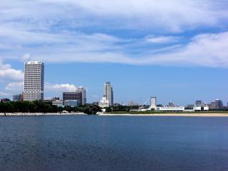 Harborfront milwaukee, wisconsin, arranha-céu Foto gratuita