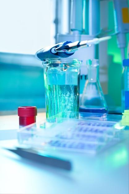 Histoquímica em processo Foto Premium