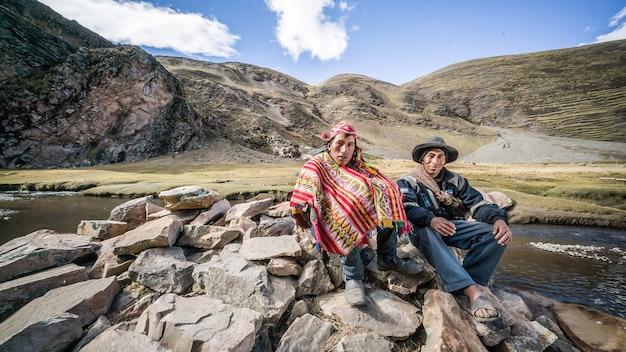 Hombres de los andes Foto Premium