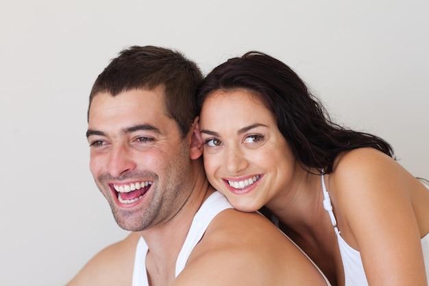 Homem alegre com mulher Foto Premium