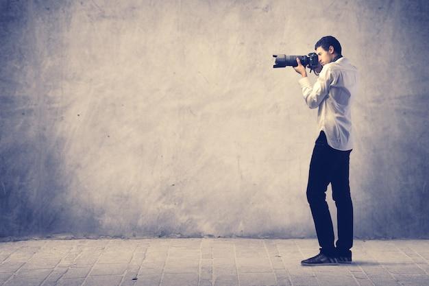 Homem da fotografia Foto Premium