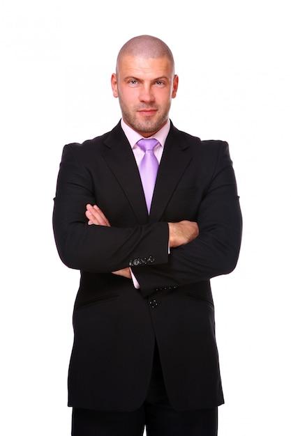 Homem de negócios isolado Foto gratuita