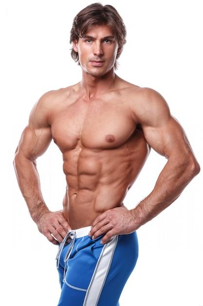 Homem musculoso bonito Foto Premium