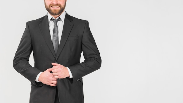 Homem negócios, ficar, confiante Foto gratuita