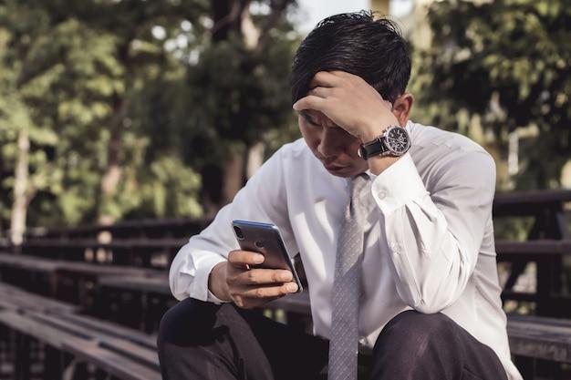 Homens de negócios são estressantes Foto Premium