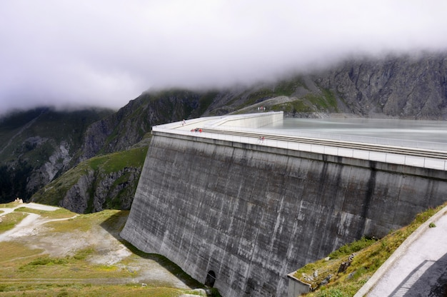 Hoover dam parede, paisagem, natureza, cachoeira do rio Foto Premium