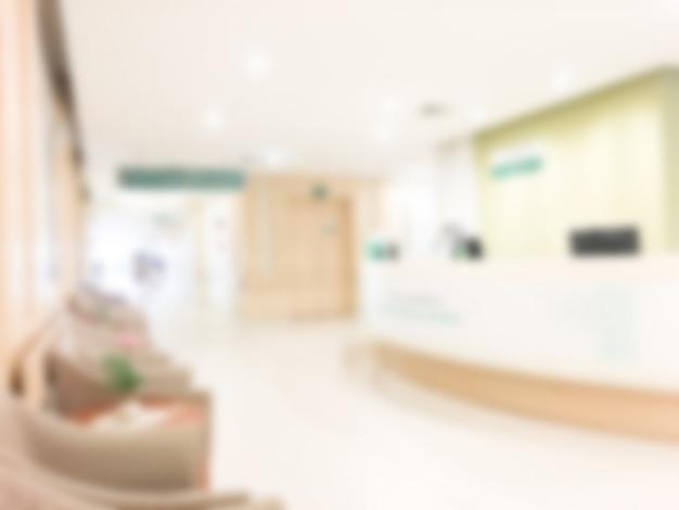 Hospital com efeito borrado Foto gratuita