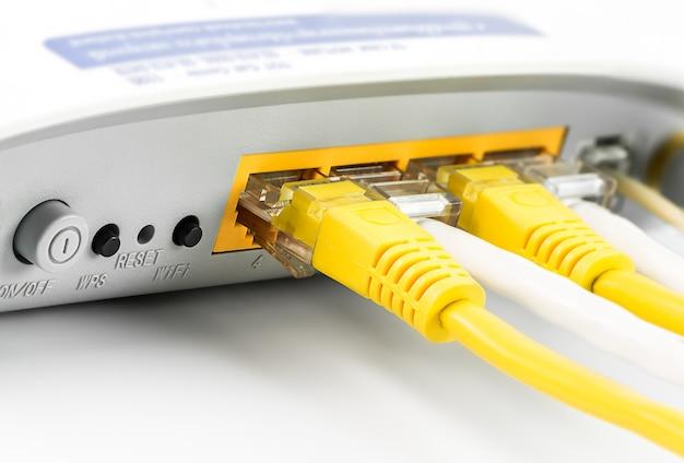 Hub de rede do roteador de modem Foto Premium