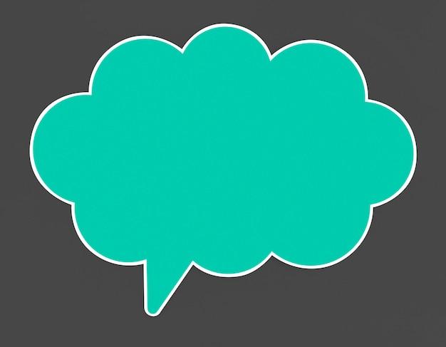 Ícone de bolha azul discurso isolado Foto gratuita
