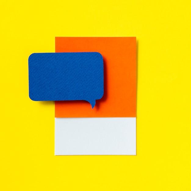 Ícone de bolha de discurso de mensagens de bate-papo Foto gratuita