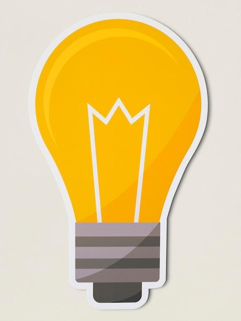 Ícone de lâmpada criativa isolado Foto gratuita