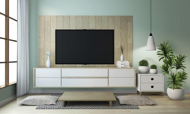 Ideia de mock up armário de madeira em estilo japonês moderno quarto zen Foto Premium