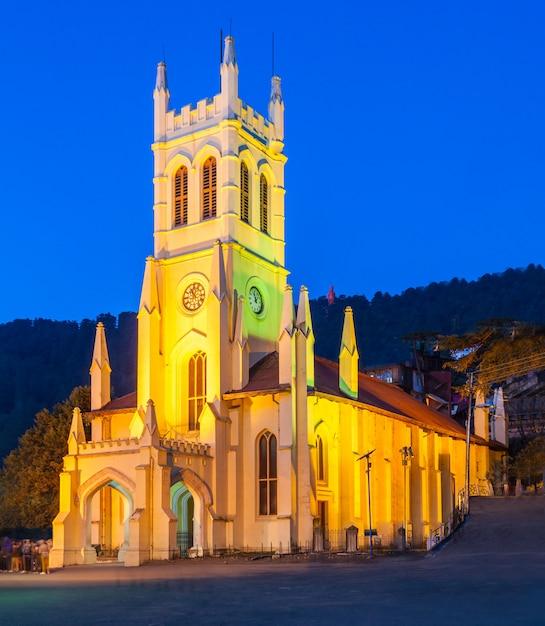 Igreja de cristo, shimla Foto Premium