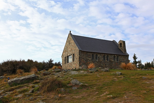 Igreja do bom pastor, lago tekapo, nova zelândia Foto Premium