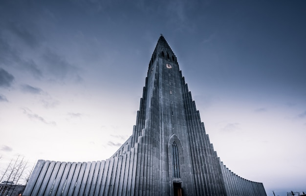 Igreja luterana em reykjavík Foto Premium