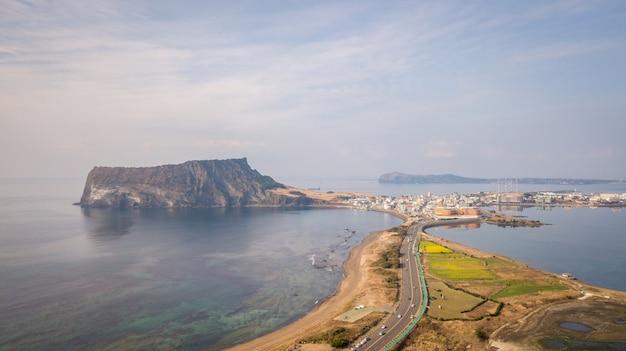 Ilha de jeju na coréia do sul Foto Premium