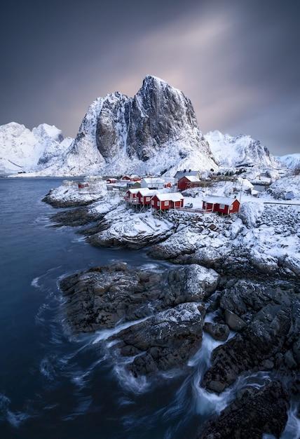 Ilhas lofoten na noruega Foto gratuita