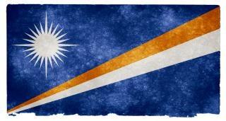 Ilhas marshall bandeira do grunge simbólico Foto gratuita