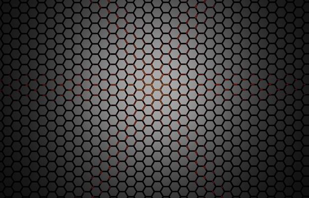 Ilustração 3d abstrato com hexágonos ilustração em mosaico de favo de mel de tecnologia futurista Foto Premium