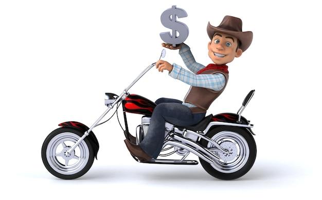 Ilustração 3d cowboy engraçado Foto Premium