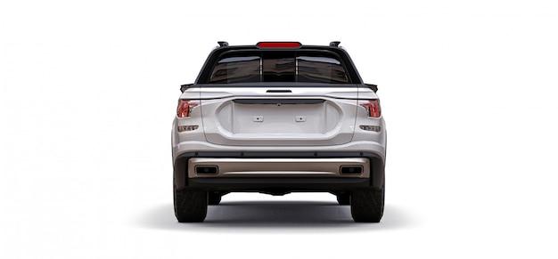 Ilustração 3d da caminhonete de carga conceito branco Foto Premium