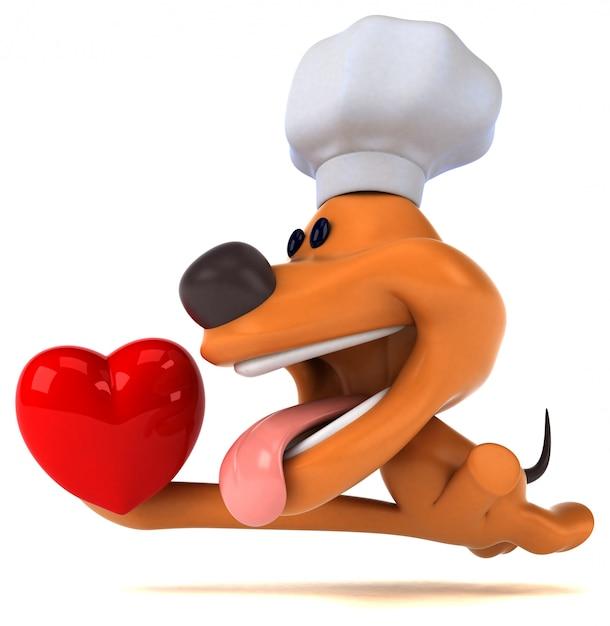 Ilustração 3d de cachorro divertido Foto Premium
