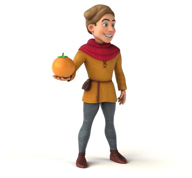 Ilustração 3d de um personagem histórico medieval Foto Premium