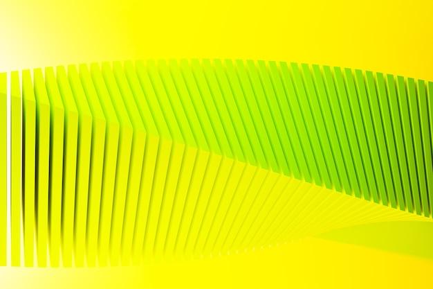 Ilustração 3d de uma faixa estéreo de cores diferentes. listras geométricas semelhantes a ondas. Foto Premium
