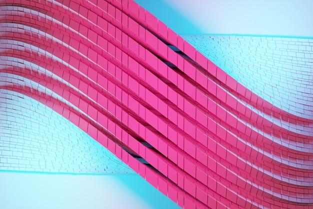 Ilustração 3d de uma faixa estéreo de cores diferentes. Foto Premium