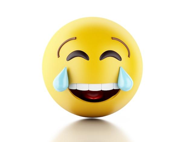 Ilustração 3d. ícones de emoji com expressões faciais. Foto Premium