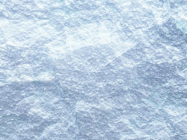 Ilustração 3d, textura de pedra branca áspera, superfície de gelo de close up de cor azul e branco Foto Premium